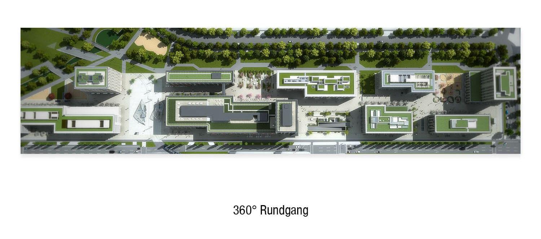 360° Rundgang Topview Vogelperspektive Office Rendering