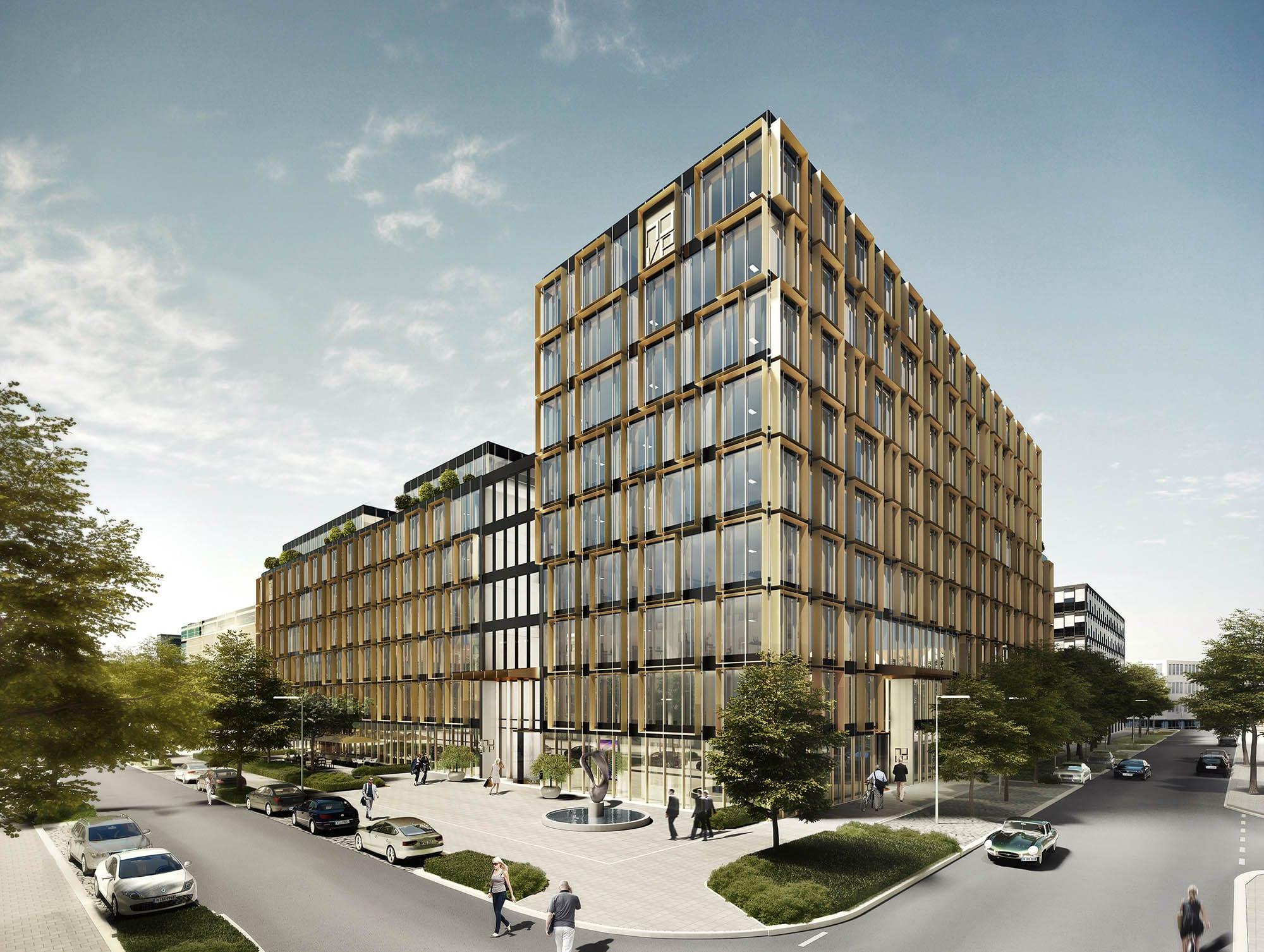 Elegant designtes Bürogebäude im Arnulfpark