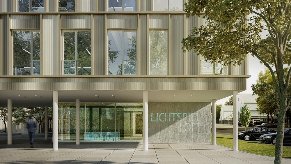 Fassade Lichtspielloft Architekturvisualisierung